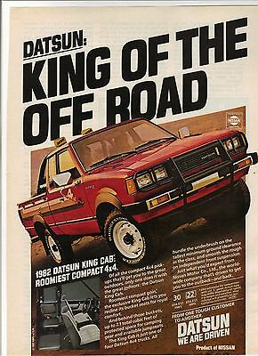 Original 1982 Datsun King Cab Pickup Magazine Ad - King of the Off Road