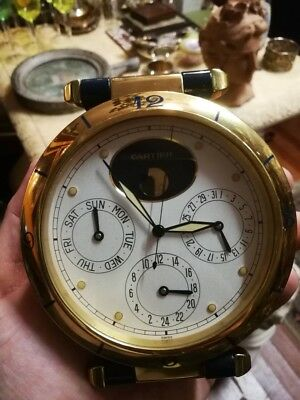 Cartier Pasha vintage perpetual calendar table clock magnificent
