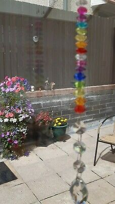 Unique Gift Feng Shui Suncatcher Faceted Glass Prism Crystal Pastel Mix Crystals