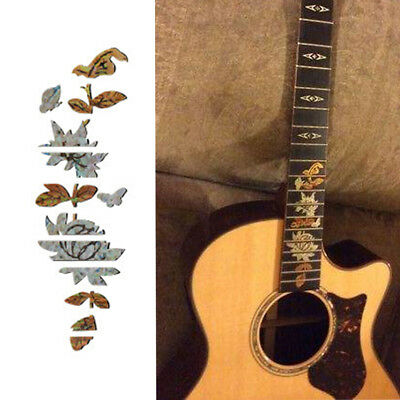 Butterflies Over Flower Guitar Bass Inlay Sticker Fretboard Marker DIY De TB