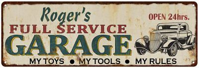 Jerry/'s Full Service Garage Metal Sign Rusty Man Cave 106180047248