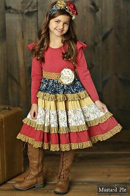 NWT Girl Mustard Pie Woodland Magic Collection McKenna Dress Girls sz 4