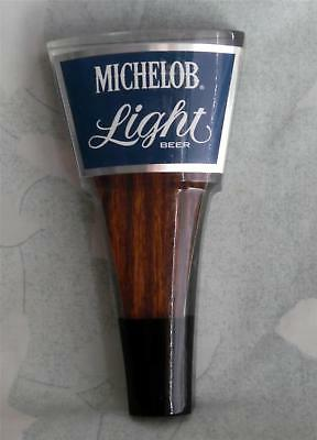 """Michelob Light Beer New Short 6 """" Acrylic & Wood 2-Sided Tap Handle"""