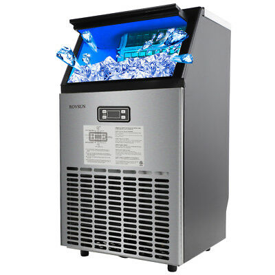 Stainless Steel Commercial Ice Maker 100LB/24hr Free Stand NEW Free Shipping