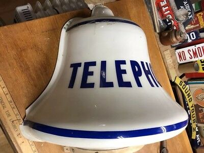 """Plastic Telephone  Bell Sign As Is. 30"""" X 26"""" X 15"""""""