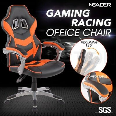 High Back Gaming Racing Chair Executive Computer Office Sport Race Seat - Orange