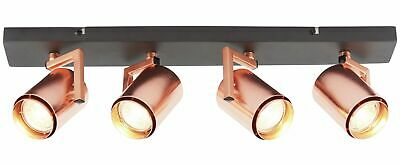 Argos Home Cole 4 Light Spotlight - Black & Copper
