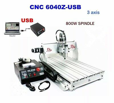 3 Axis Motors CNC 6040Z Router Engraving Drilling Milling Machine Cutter