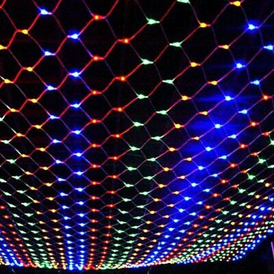 New LED String Fairy Lights Net Mesh Curtain Wedding Party XMAS Tree Home Decor