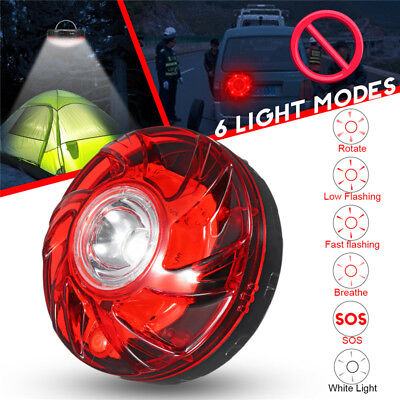 Magnetic LED Emergency Warning Road Flashing Signal Light Bottom Red Car Camping
