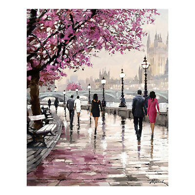 Home Decor Canvas Prints Painting Wall Art Ink Flowers Cherry Blossoms Picture