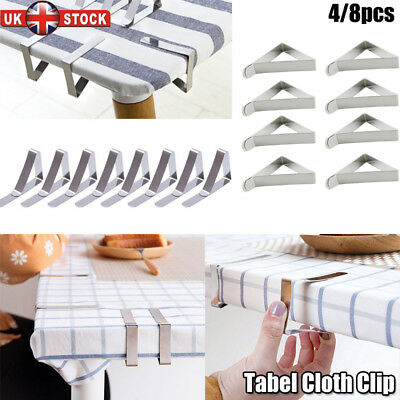 4/8pcs British Steel Table Cloth Cover Clips Quality Metal Peg Clamp Picnic Prom