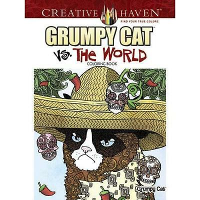 Creative Haven Grumpy Cat Vs. The World Coloring Book ( - Paperback NEW Diego Pe