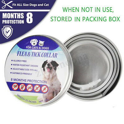 New Pet Dog and Cat Ticks and Flea Collar 8 Months Control Protection Prevention