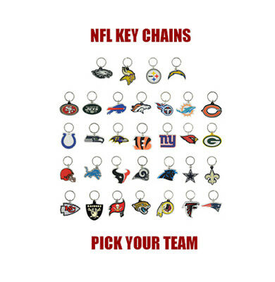 (1) Nfl Keychain ~ Soft Pvc Rubber ~ Pick Your Team ~ Nfl Licensed ~ Hot New