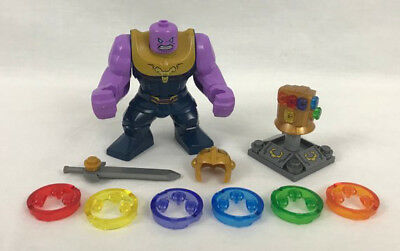 NEW THANOS INFINITY War Minifigure with Infinity Gauntlet + All 6 extra  stones