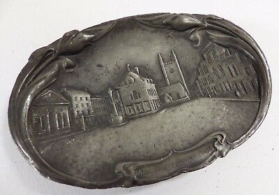 Vintage Art Nouveau Pewter Trinket / Pin / Cufflink Dish Wallingford Marketplace