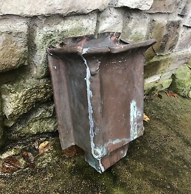 Antique Copper Gutter Downspout Box Architectural Salvage