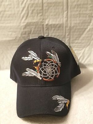 Native Pride Dreamcatcher Feathers Indian Baseball Cap Hat ( Dark Blue ) cc0e690aa768