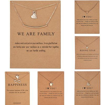 Women Lucky Necklace Pendant Gold Clavicle Chains Choker Card Jewelry Gift Party
