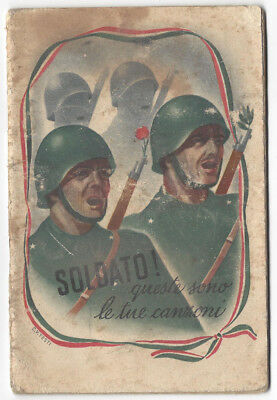 ITALY Soldiers these are your Songs WW2 Fascist Propaganda Booklet 1941