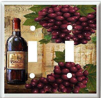 Wine And Grape Wine Bottle # 11  Light Switch Cover Plate  U Pick Plate Size