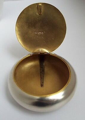 Superb Condition Heavy English Antique 1905 Solid Sterling Silver Tobacco Box