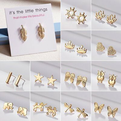 Fashion Animal Butterfly Stud Earrings Wedding Party Women Jewelry Girl's Gift