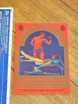 1967 Youngbloods Family Dog Avalon Ballroom Postcard  Fd-66 Victor Moscoso Art