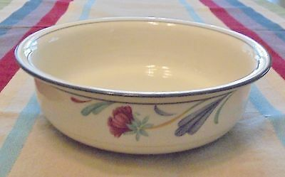 """Lenox Chinastone POPPIES ON BLUE  ~6 1/4"""" Cereal/Soup Bowl~ NICE! Disc."""