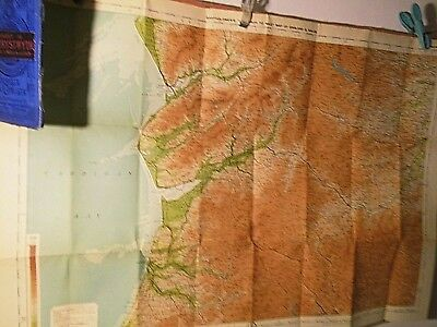 Central West Wales: Aberystwyth: Cyclists' Touring Club & Bartholomew Map C1920