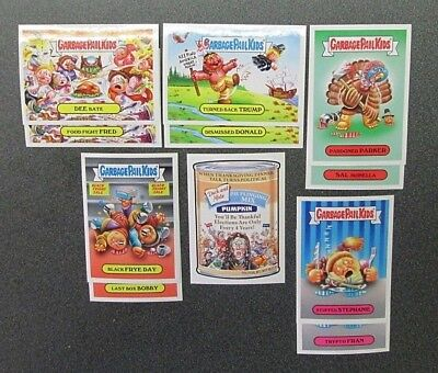 Garbage Pail Kids 2016 THANKSGIVING SET OF 11 INCLUDES THE WACK PACK PUMPKIN