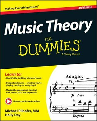 Music Theory For Dummies by Michael Pilhofer 9781118990940 (Paperback, 2015)