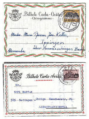 Mozambique Mocambique 1960-1970, 13 Covers/cards Cards, Frankings! Cancels!