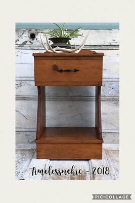 Vintage Rustic Wooden Nightstand ~ Side Table ~ End Table ~ Rustic Table