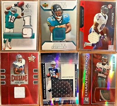 Lot of over 100 Football Cards - GUARANTEED Auto or Jersey! - Assorted Rookies