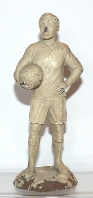 RR53 - Heyde Germany ? Pre WW1 ? 1920s ? hollow lead Football player 163mm high