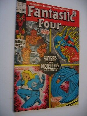 Fantastic Four #106 Stan Lee John Romita Marvel 1971 FN P&P Discounts