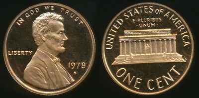 1978 S Uncirculated Mint Proof Lincoln Cent 1c Coin DCAM FREE SHIPPING