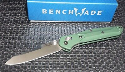 Benchmade 940 Osborne AXIS Lock Knife Green Satin Plain