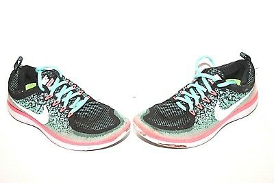 d7442059f03a7 Nike WMNS Free RN Distance 2 Athletic Running Shoes Green Pink Sz 7.5 863776 -300