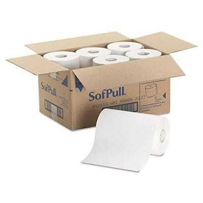 """SofPull 9"""" Paper Towel Roll by GP PRO, 1-Ply, White, 400 Feet Per Roll, 6 Rolls"""