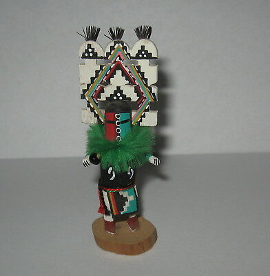 Miniature Hopi Hemis Kachina Signed Native Indian American Carved Doll