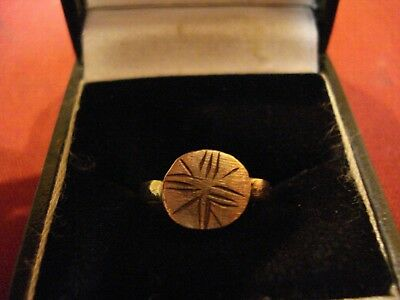Ancient Roman / Byzantine Ring With 'cross'-Detector Find