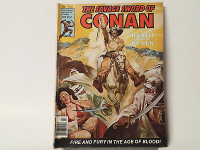 The Savage Sword of CONAN the Barbarian #57 Marvel Comics 1980 FN   FL