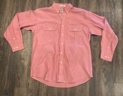 449ece5827dda Men's Orvis Buzz Off Insect Shield Long Sleeve Button Up Shirt Large Red