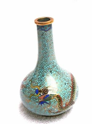 Chinese Coisonne Vase With Dragon