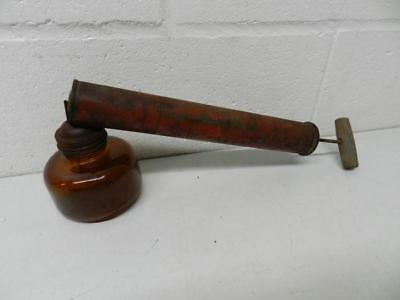 Old Vintage Chapin Bug Fly Sprayer Brown Glass Metal Spray Pump Rustic