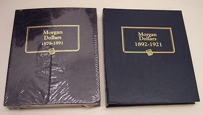 2--U S MORGAN DOLLARS  ( 1878-1891 and 1892-1921  ) CLASSIC COIN ALBUMS