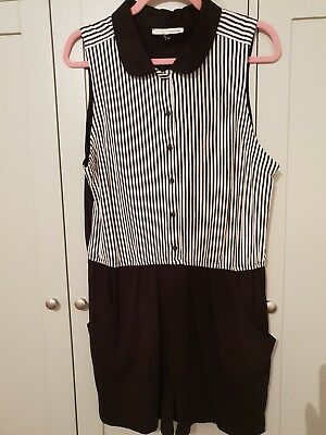 f3218d70a51 River Island Size 16 Pinstripe Playsuit